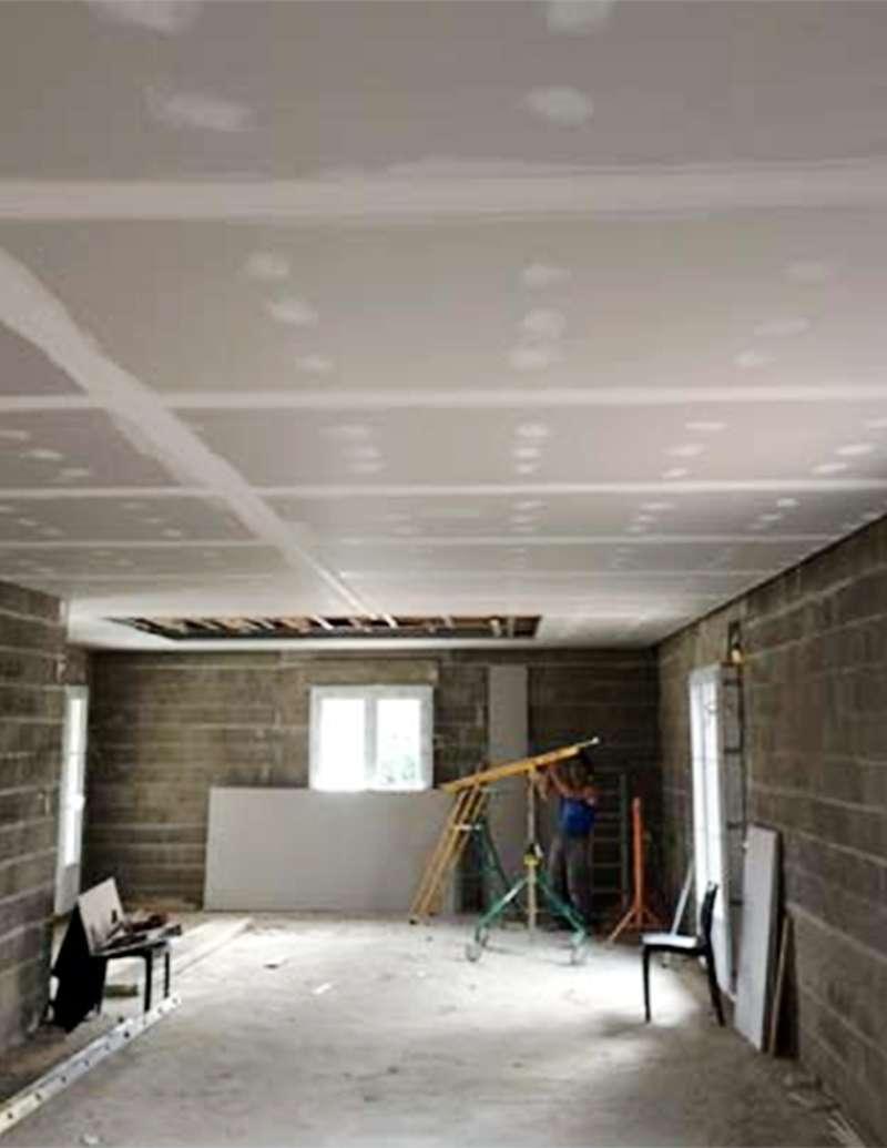 Pose de faux plafond